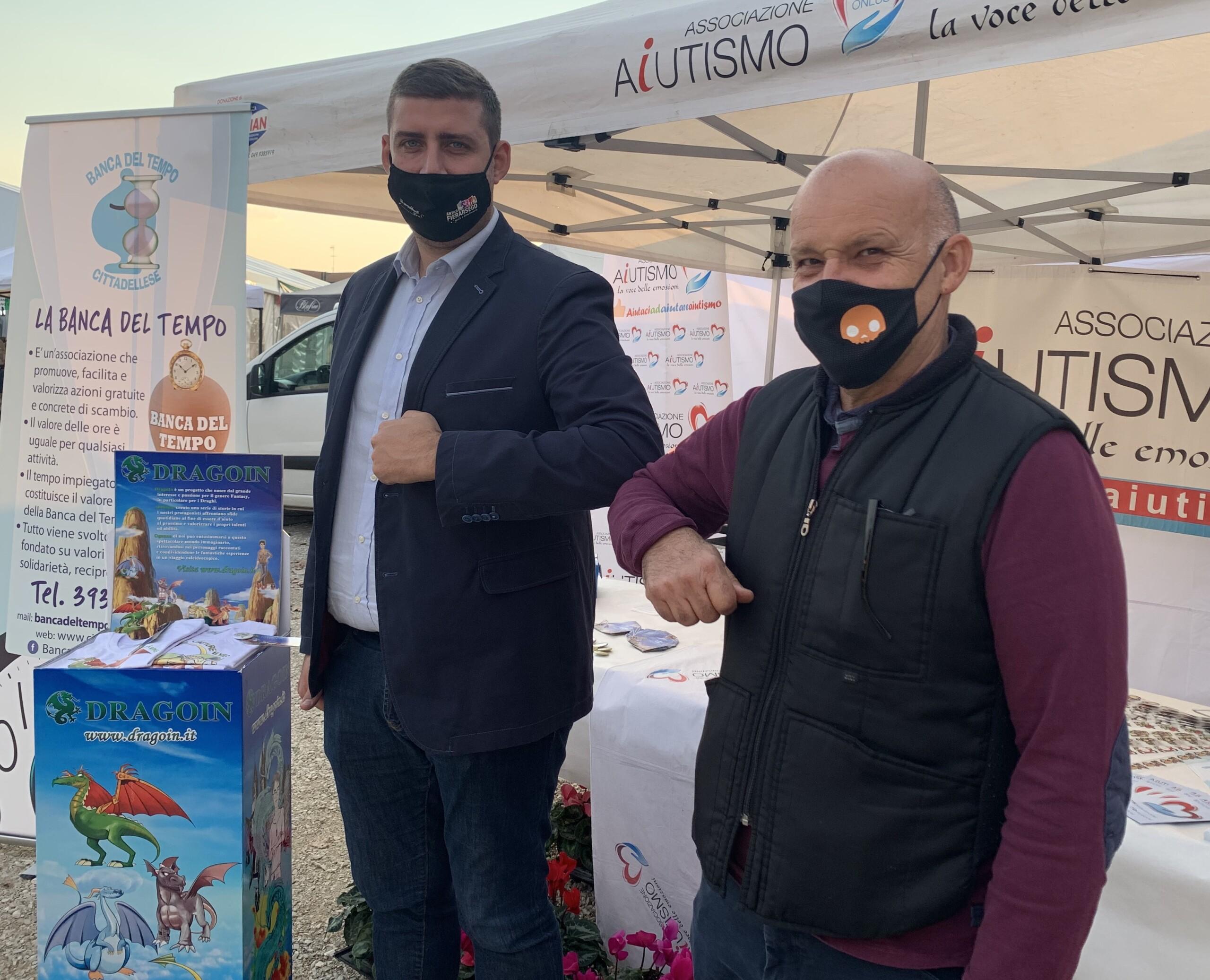 Sindaco Daniele Cannella - Presidente Associazione Aiutismo Piercesare Giaretta